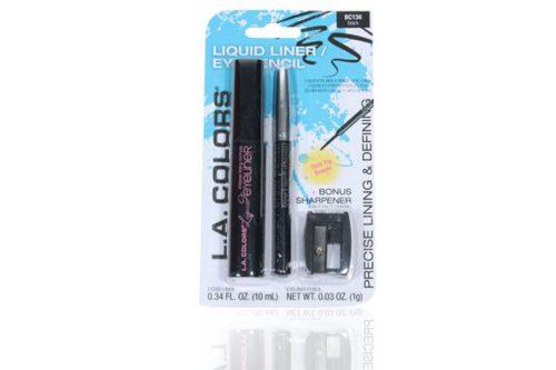 L.A. Colors Liquid LinerEye Pencil Set with 24 units
