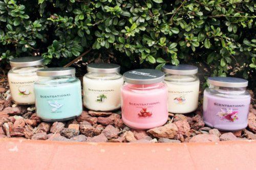 Wholesale Scentsational Jar Soy Candles Front Photo