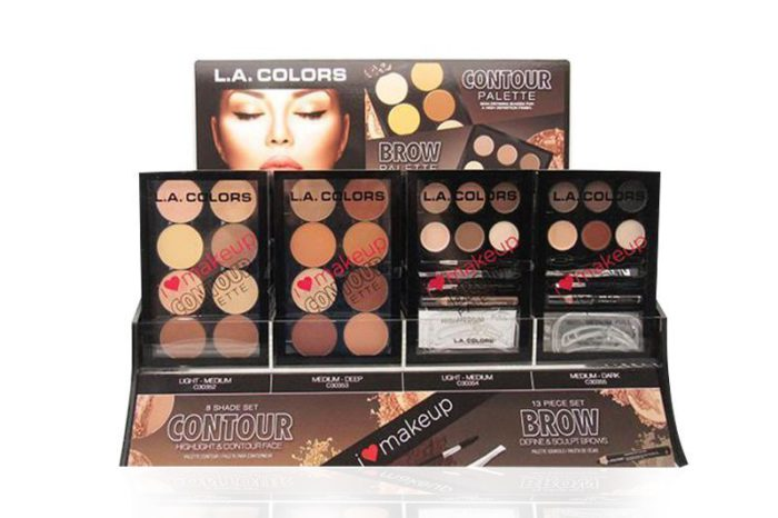 L.A. Colors Contour and Brow Palette Display in different units on a display
