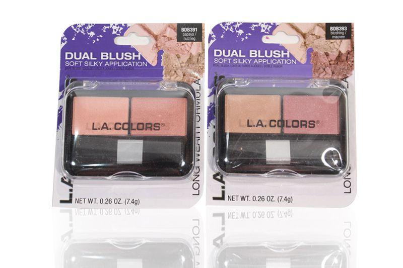 L.A. Colors Dual Blush in differents unidades en un display