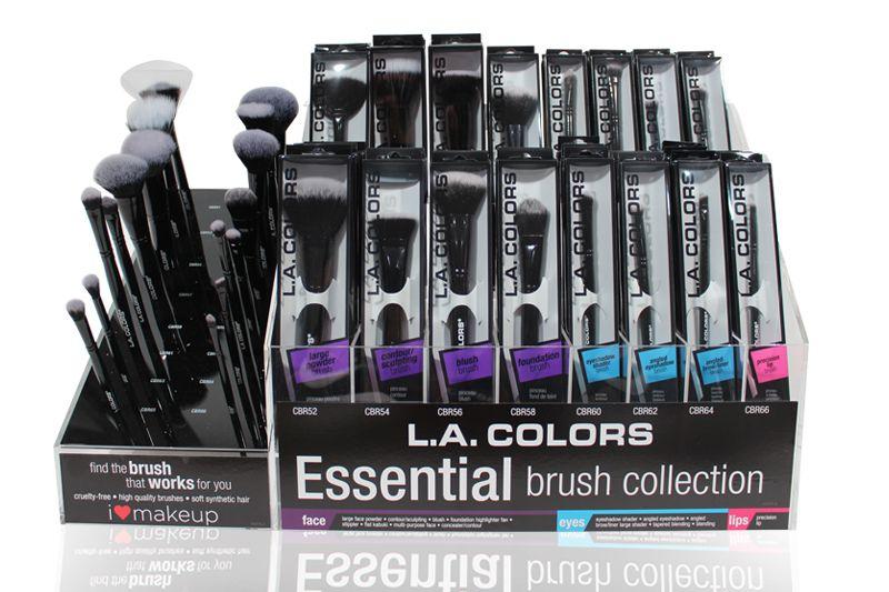 L.A. Colors Essential Brush Collection con 192 unidades en un display
