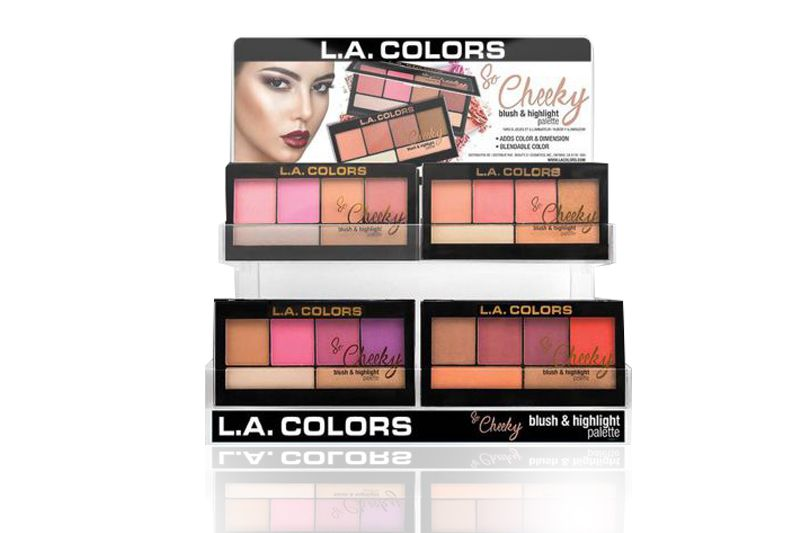 L.A. Colors So Cheeky Blush and Highlight Display de 60 unidades