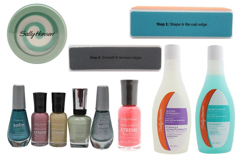 An assortment of 11 different Sally Hansen Nail Products