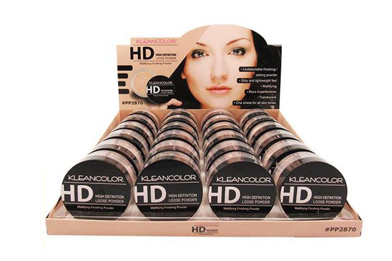 Kleancolor HD Loose Powder 24 unidades en un display