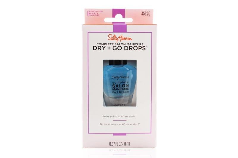 El embalaje de un Sally Hansen Complete Salon Manicure Dry and Go Drops Packaging