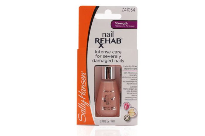 The packaging of a Sally Hansen Nail Rehab