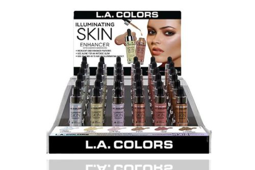 L.A. COLOR Illuminating Skin Enhancer of 52 units on a display