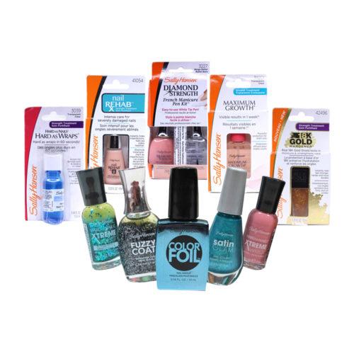 Sally Hansen Mini Box Nail Polish and Cuticle Treatments- 100 Units