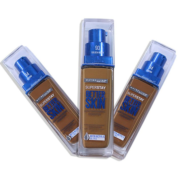 Maybelline Superstay Better Skin Base Transformadora Surtida en 3 Tonos Oscuros