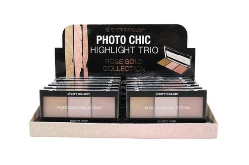 City Color Photo Chic Highlight Trio - Rose Gold Collection Display (C-0030A)