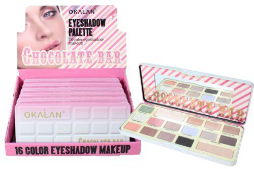 Okalan 16-Color Chocolate Bar Eyeshadow Palette (OKL-E048)