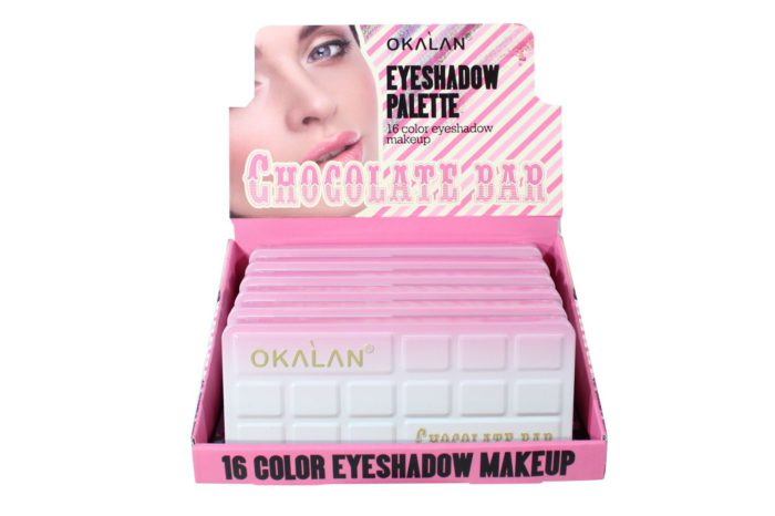 Okalan 16-Color Chocolate Bar Eyeshadow Palette (OKL-E048)