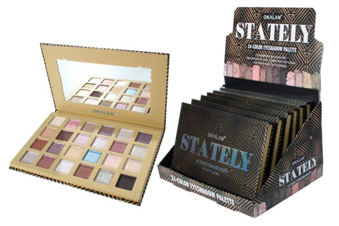 Okalan Stately 24-Color Eyeshadow Palette (OKL-E063)