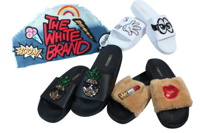 Mix The White Brand flips flops For Her