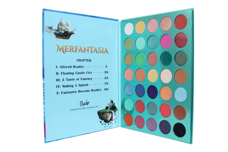 Rude Cosmetics Merfantasia 35 Eyeshadows Palette – Book 8 (RC-87978)