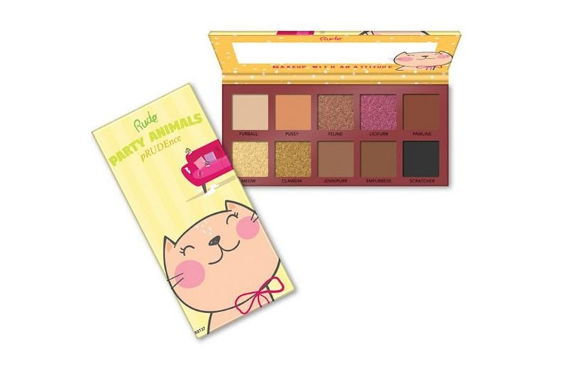 Rude Cosmetics Party Animals 10 Eyeshadow Palette - Prudence (RC-88137)