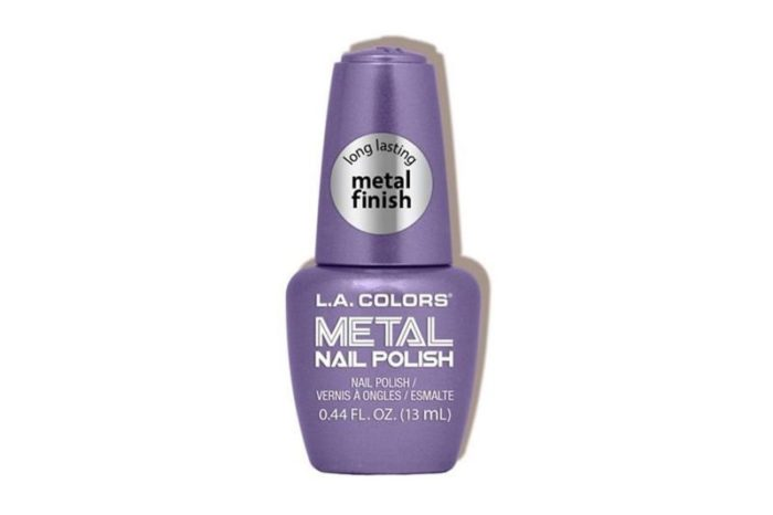 L.A. Colors Dark Metal Nail Polish Display (CLAC439)