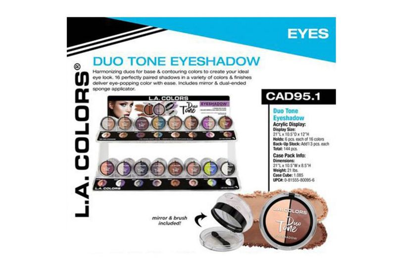 L.A. Colors Duo Tone Eyeshadow Display (CAD95.1)