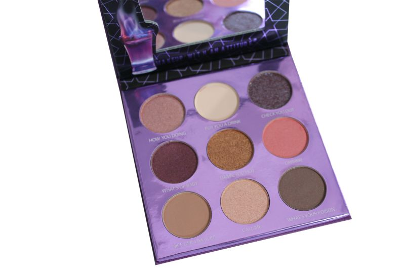 Rude Cosmetics 9 Color Eyeshadow Palette - Purple Flame (RC-88178)