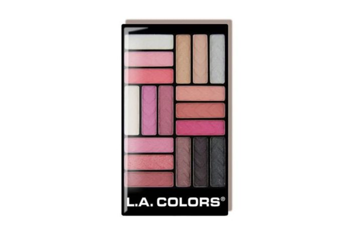 L.A. Colors Glam Palette 18 Color Eyeshadow - Diva Glam (CES748)
