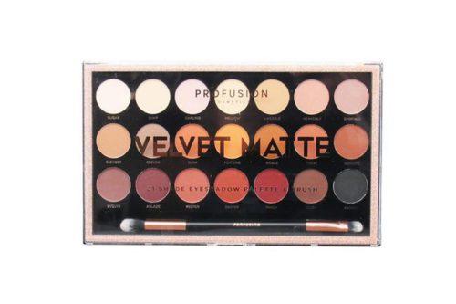 Profusion 21 Shade Eyeshadow Palette & Brush - Velvet Matte (1960A)