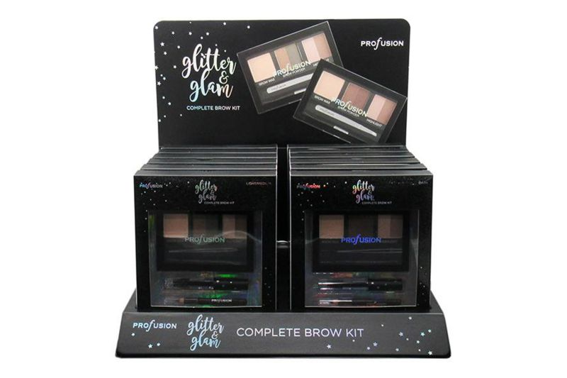 Profusion Glitter & Glam Complete Brow kit Display (8902-6)