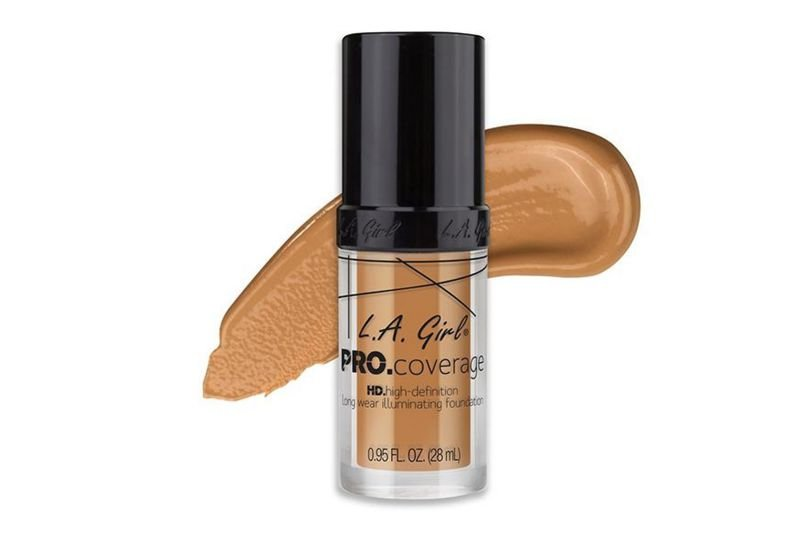 L.A. Girl Pro. Coverage HD High-Definition Long Wear Foundation -Nude Beige.