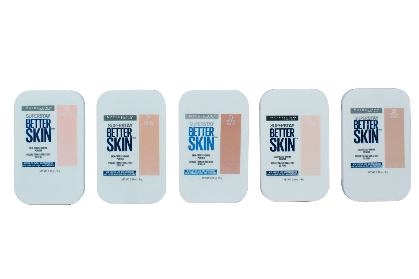 Maybelline Super Stay Better Skin Skin - Transforming Powder 5 Shades Assorted (MBP6)