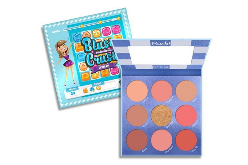 Rude Cosmetics Blush Crush 9 Color Blush Palette - Level Up (RC-88030)