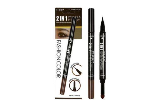 Nabi 2 IN 1 Black Eyeliner & Brown Eyebrow Powder Display (TEE-24)
