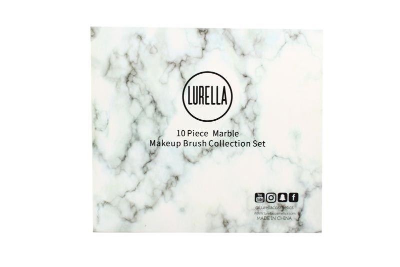 Lurella Cosmetics Brush 10 Piece Set - Delux Marble