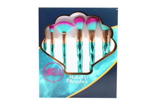 Lurella Cosmetics Brush 7 Piece Set - Aqua marine