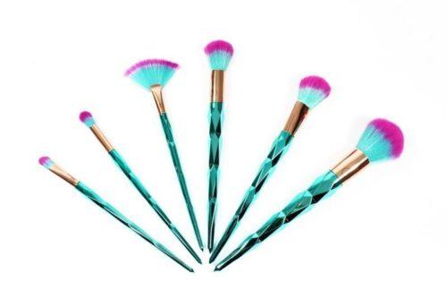 Lurella Cosmetics Brush 7 Piece Set - Aqua marine