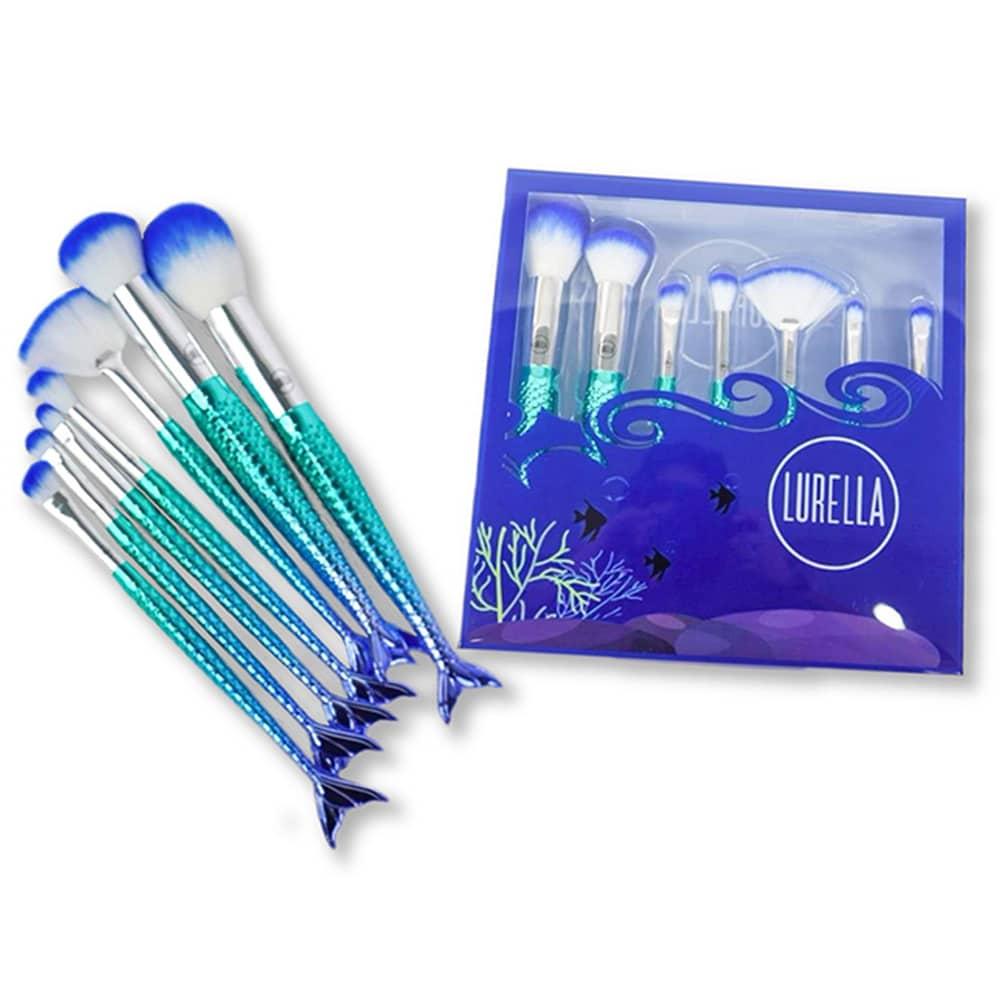 Lurella Cosmetics Brush 7 Piece Set - Be a Mermaid Blue (LBS-7P