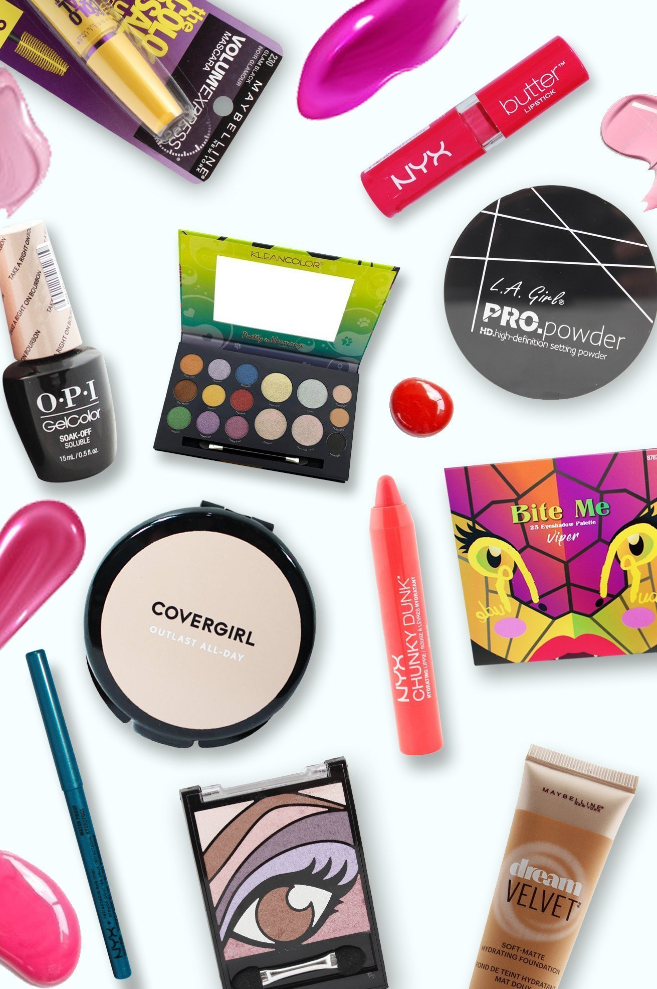 A collection of Makeup products background