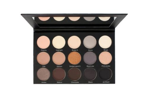 Kara Beauty Eyeshadow Palette Cryolan Smoky Sand - 15 Color (ES23)