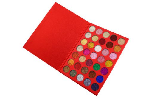Kara Beauty Eyeshadow Palette Galaxy Red Glitter - 35 Color (ES18)