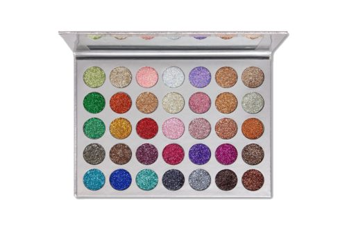 Kara Beauty Eyeshadow Palette Galaxy Silver Glitter 35 Color (ES21)