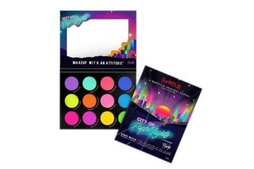 Rude Cosmetics City Of Pastel Lights - 12 Pastel Pigments & Eyeshadow Palette (RC-87950)