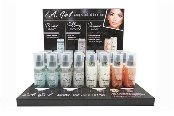 L.A. Girl Primer Set & Shimmer Spray Display (GPD356)