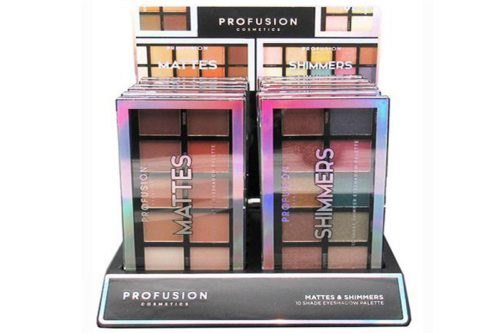 Profusion 10 Shade Eyeshadow Palette - Mattes & Shimmers Display (1800)