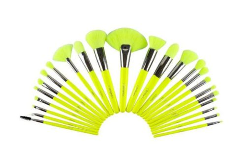 Beauty Creations The Neon Yellow 24 PC Brush Set (B24NY)