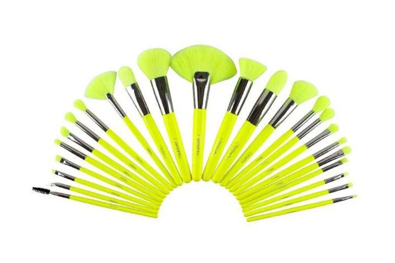 Beauty Creations The Neon Yellow 24 PC Brush Set (B24NY)