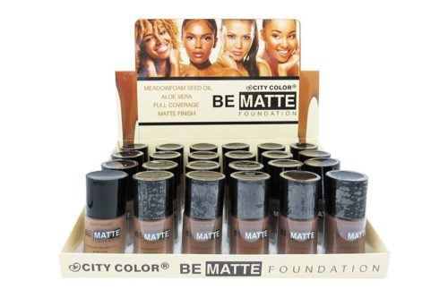 City Color Be Matte Foundation Meadowfoam Seed Oil Aloe Vera Display (F-0110A)