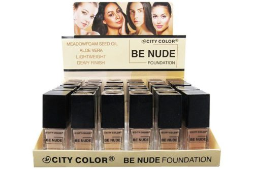 City Color Be Nude Foundation Meadowfoam Seed Oil Aloe Vera Display (F-0111)