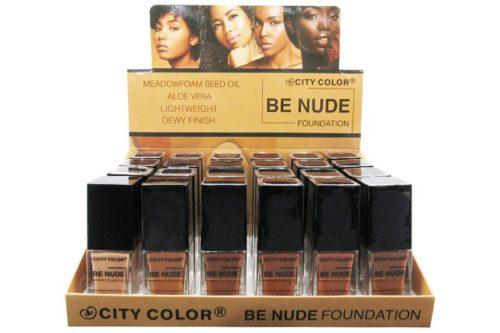 City Color Be Nude Foundation Meadowfoam Seed Oil Aloe Vera Display (F-0111A)