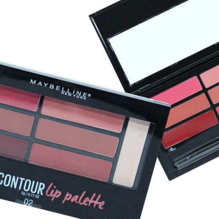 Maybelline Lip Studio Paleta de Labios de Contorno y Color Seis tonos E Iluminador