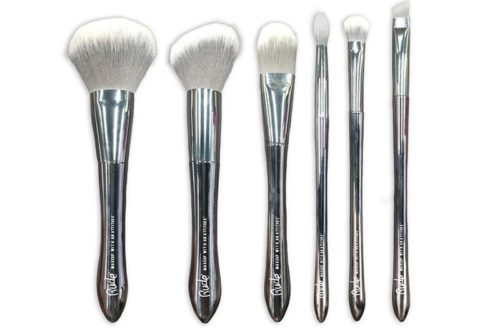 Rude Cosmetics Silver Bullet Makeup Brush Kit Pack 6PCS (RC-90000)
