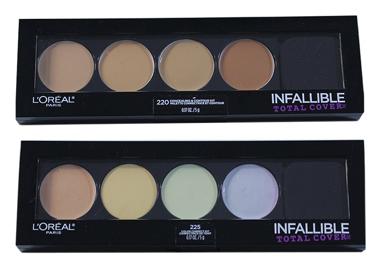 LOréal Infallible Total Cover Concealer & Contour Palette Assorted