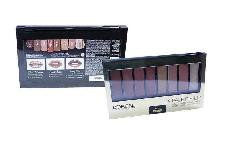 LOréal La Palette Lip Kit Shades Cream, Matte & Highlighter